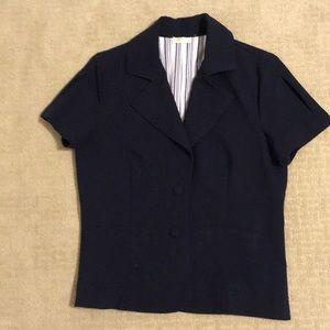 Matty M Navy short sleeve blazer